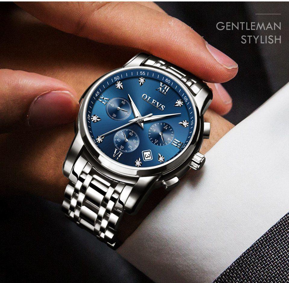 Relojes De Hombre Top Marca De Lujo Olevs Relojhombre Modahombre Relojes Hombre Accesorios Para Hombre Reloj De Pulsera Hombre