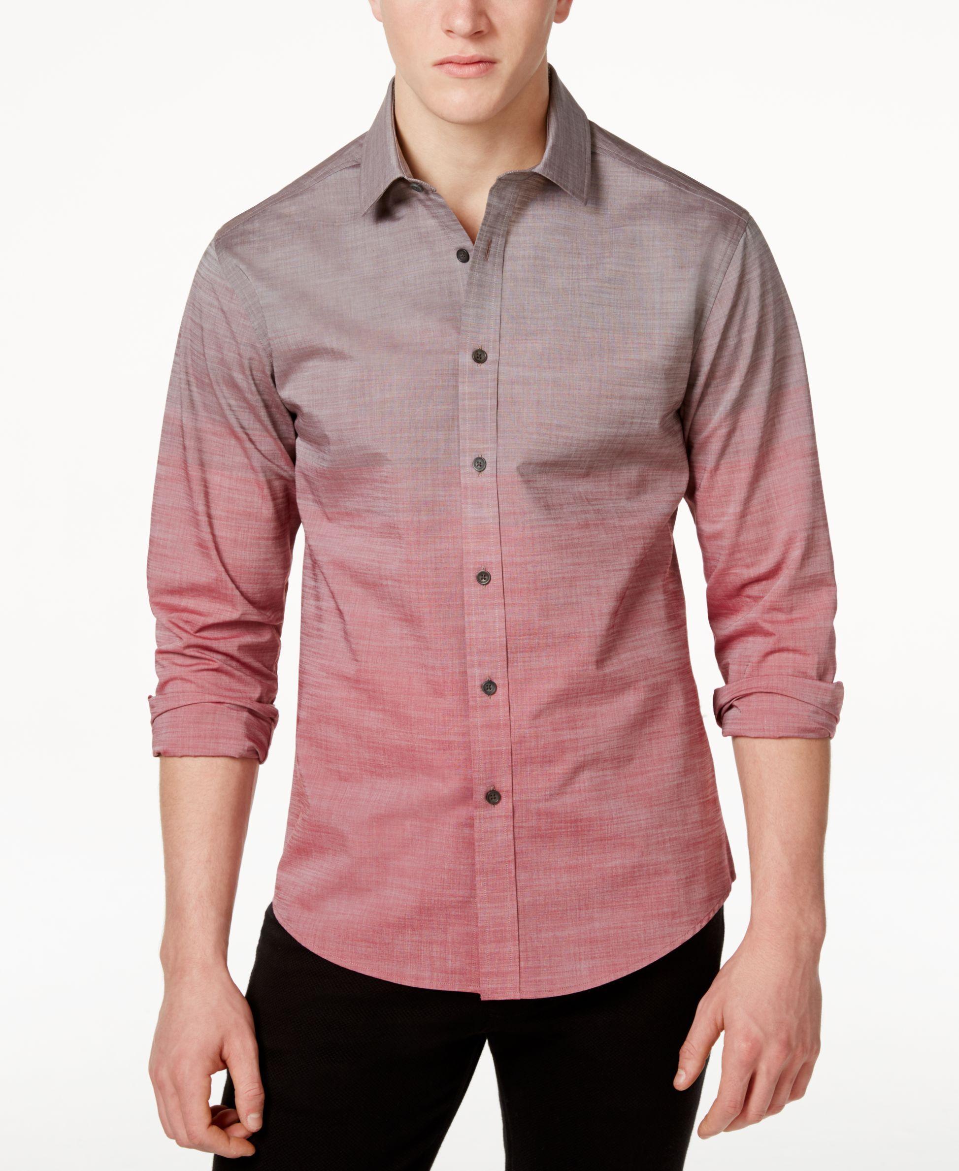 Vince Camuto Men's Ombre Button-Front Shirt - Casual Button-Down Shirts -  Men - Macy's | Casual shirts for men, Men shirt style, Mens shirts