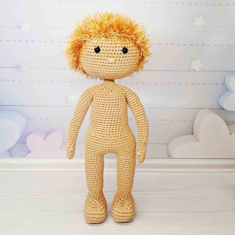 Love this boy doll, so adorable! Detailed doll crochet pattern ... | 794x794