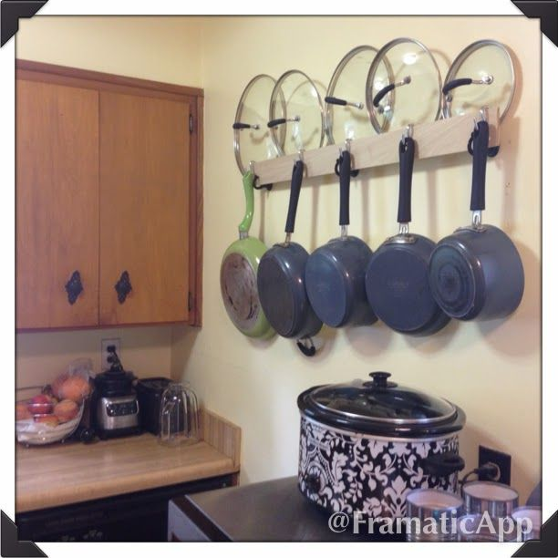 Pots And Pans Rack Kitchen Wall Storage Kitchen Kitchen Pot