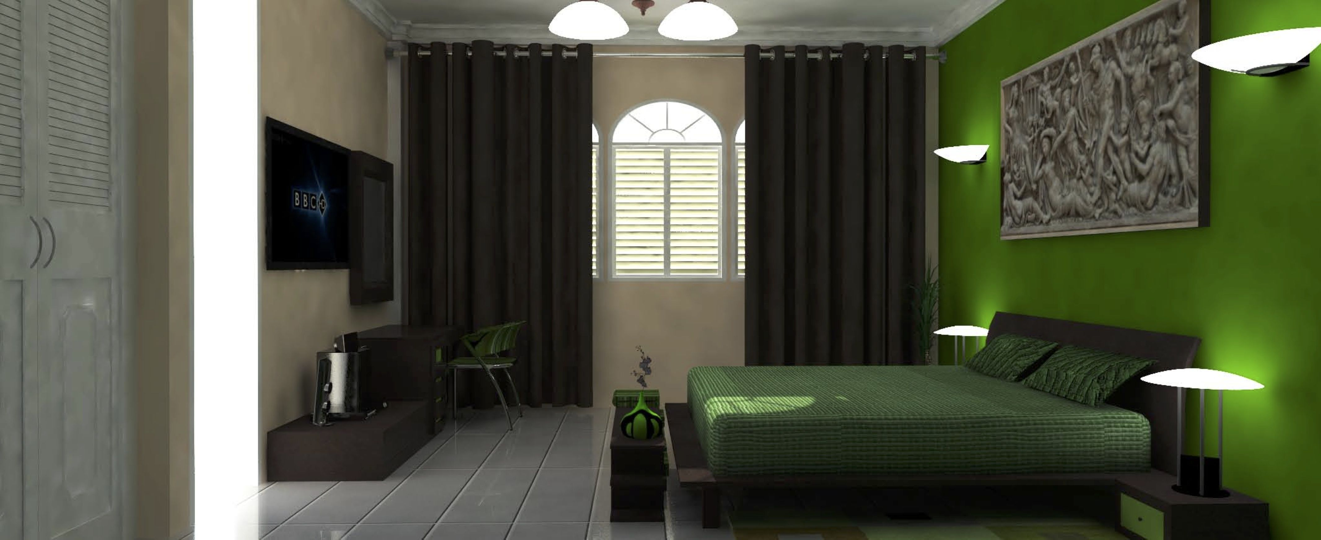 3D ontwerp. Ontwerp van de slaapkamer van Clarissa & Martin ...