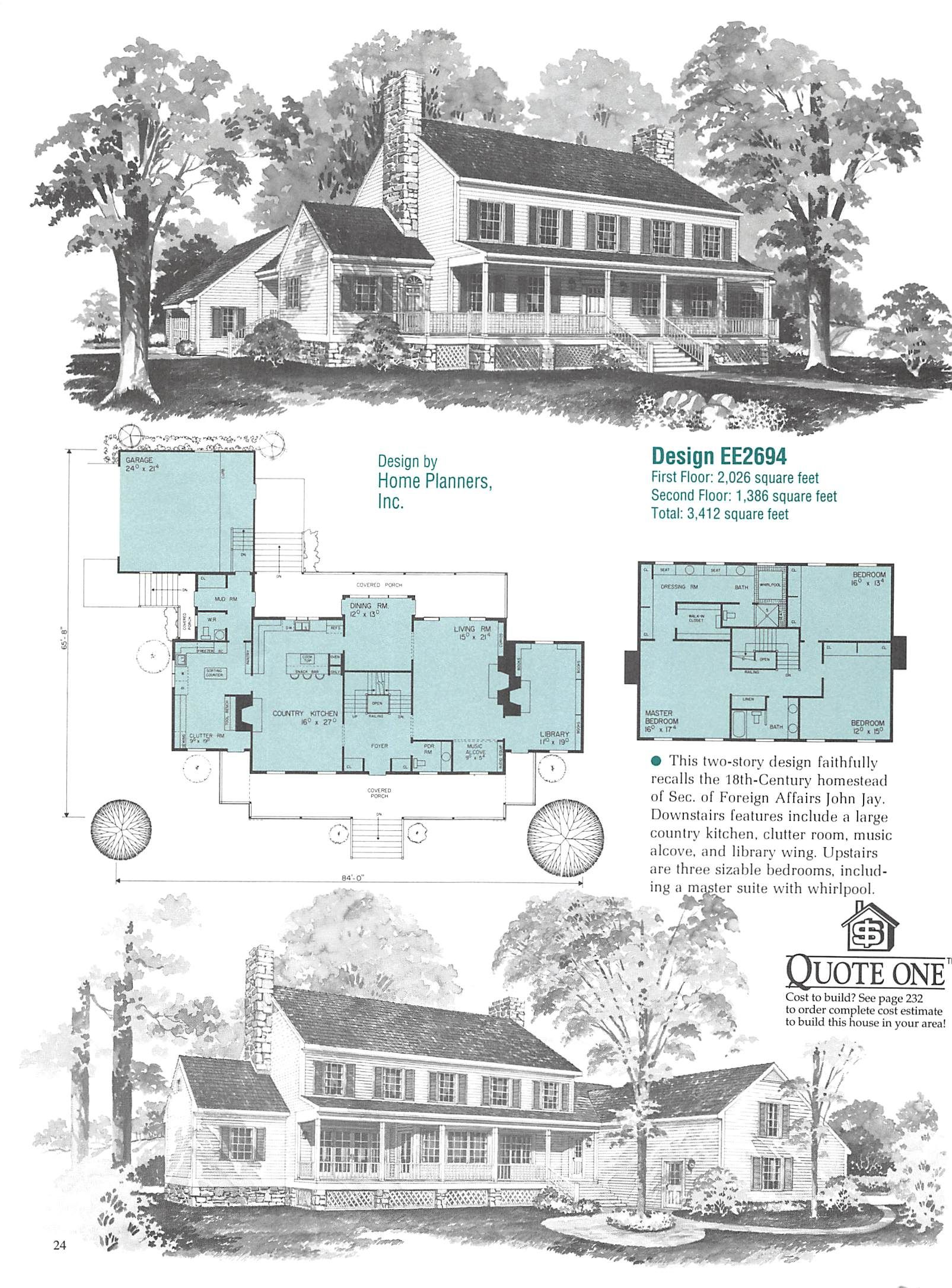 Southern Home Plans_Page_025 | Houses - Plans | Pinterest | Southern ...