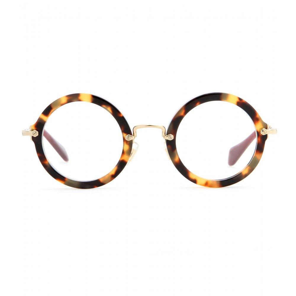 57bda70796e2be Miu Miu - Lunettes de vue rondes …   lunettes   Glass…