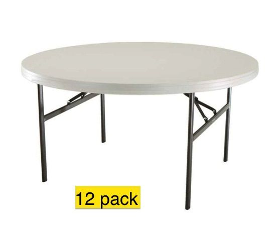 Lifetime 2971 Almond 5 Foot Round Table On Sale With Free Shipping Lifetime Tables Folding Table 60 Inch Round Table