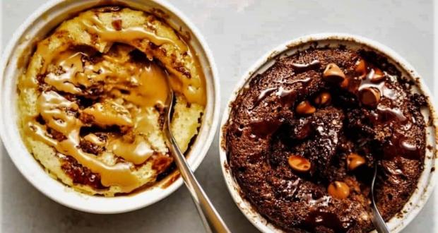 كيكة الكيتو ماج في المايكرويف بالشوكولاتة أو الفانيليا أو زبدة الفول السوداني Meals Diet Low Carb Mug Cakes Keto Mug Cake Sugar Free Peanut Butter