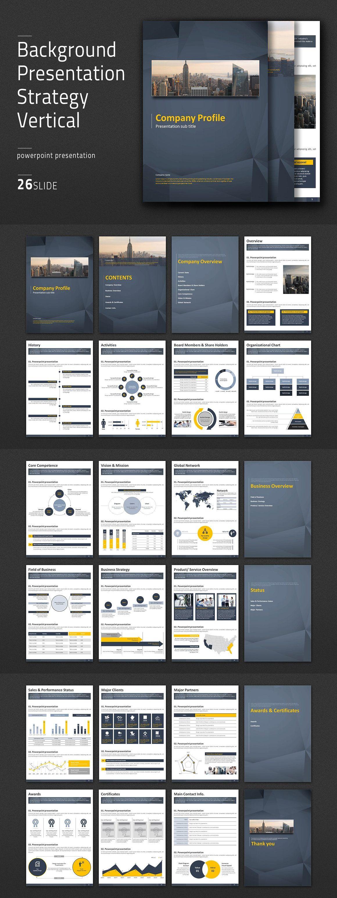 Background Presentation Strategy Template PDF   Presentation