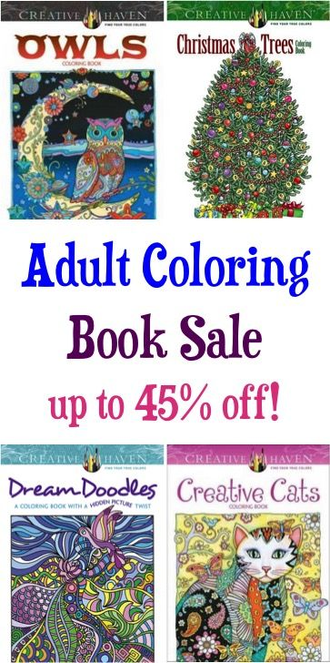 Adult Coloring Book Sale: up to 45% off! {check some gifts off your ...