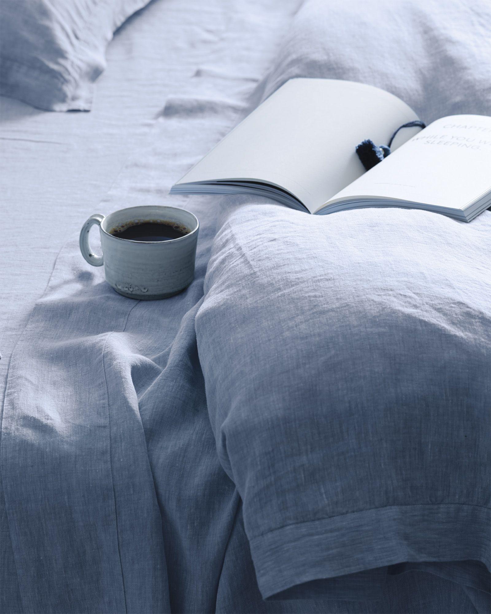 Serena & Lily Cavallo Linen Duvet Cover Coastal bedrooms