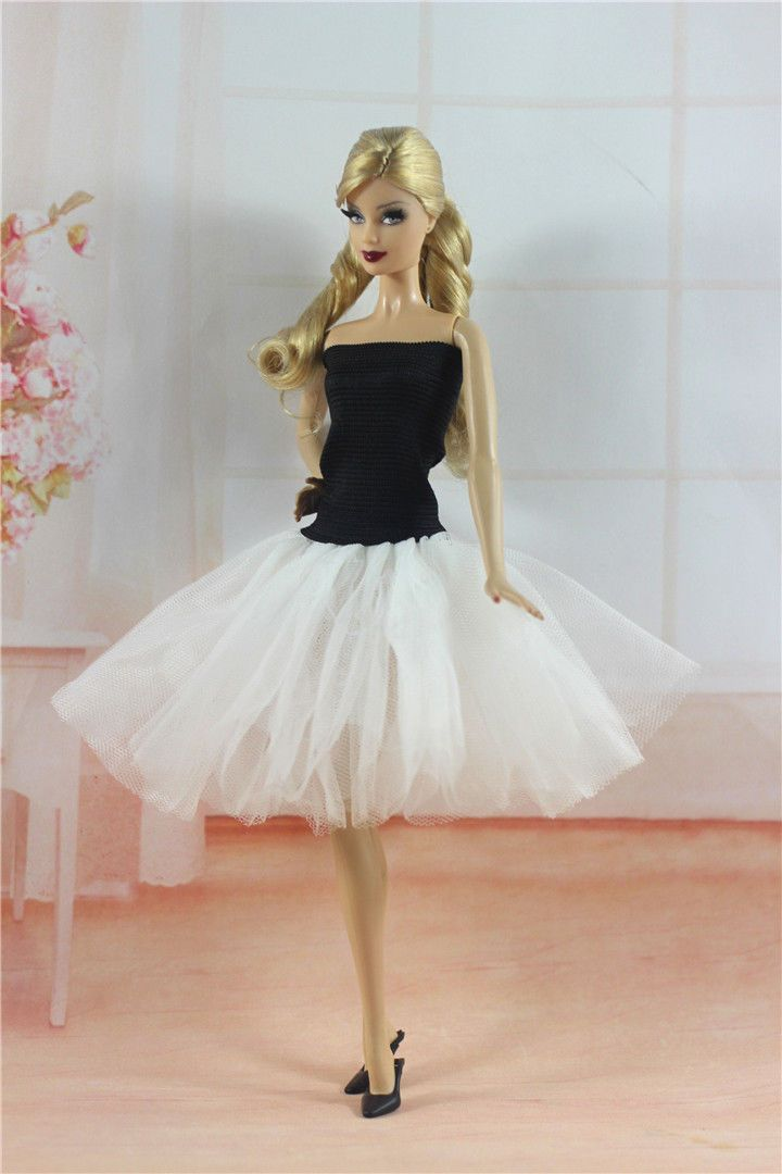 Handmade Ballet Dress with White Lace Clothes For 11.5in.Doll H24