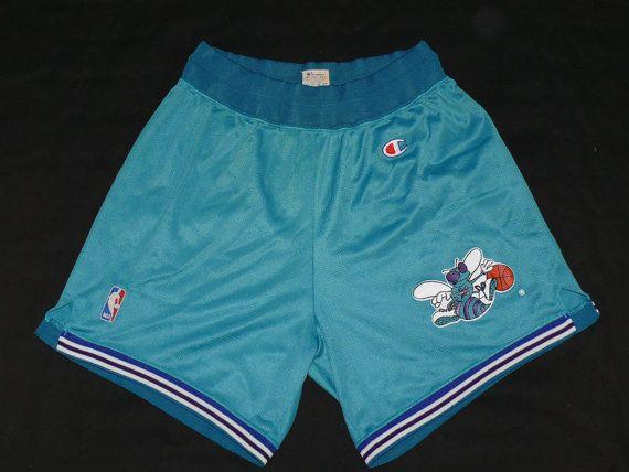 31a08a987 vintage 90 s CHARLOTTE HORNETS Team Shorts rare от BestAvondale ...