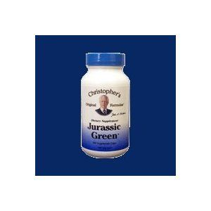 """Dr. Christophers Formulas Jurassic Green, 100 Vegicaps by Dr. Christopher's Formula. Save 35 Off!. $13.49. Serving Size:. 100 VegiCaps. This is one of the most important and versatile Dr John R Christopher herbal products out in the marketplace now! Some consider Jurassic Green Powder as """"Mother Nature's Perfect Fast Food!"""" Preferred by many herbalists and natural healers as the backbone of all natural healing principles. Packed full of phyto-nutrients, whole food vitamins, trace…"""