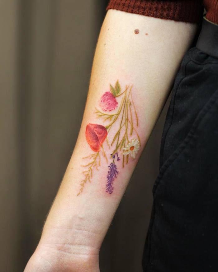 Beautiful Botanical Tattoos By Salem Witch Descendant: Gorgeous Botanical Tattoo Designs By Cindy Van Schie