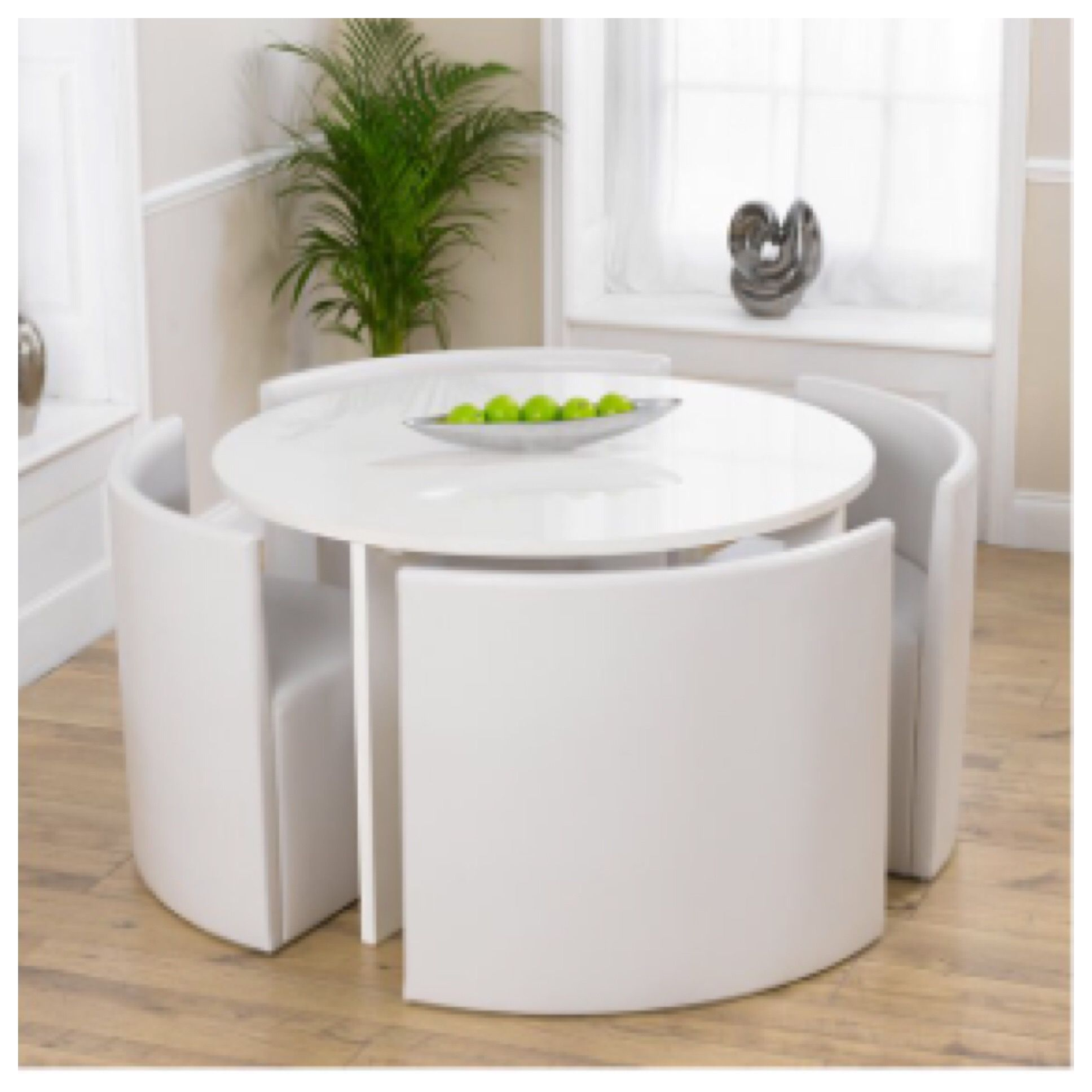 Minimalistliving Room Design Ideas: More White, I Love This Table And Chairs From @Wayfair, It