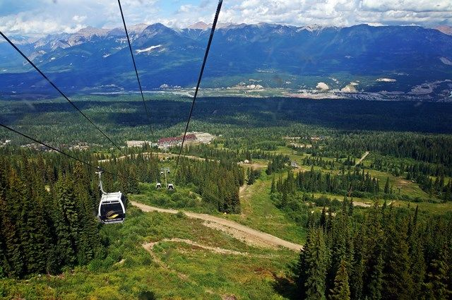 Great views from the gondola at Kicking Horse Mountain Resort, Golden, BC, Canada