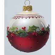 Holly Bauble - Oxblood