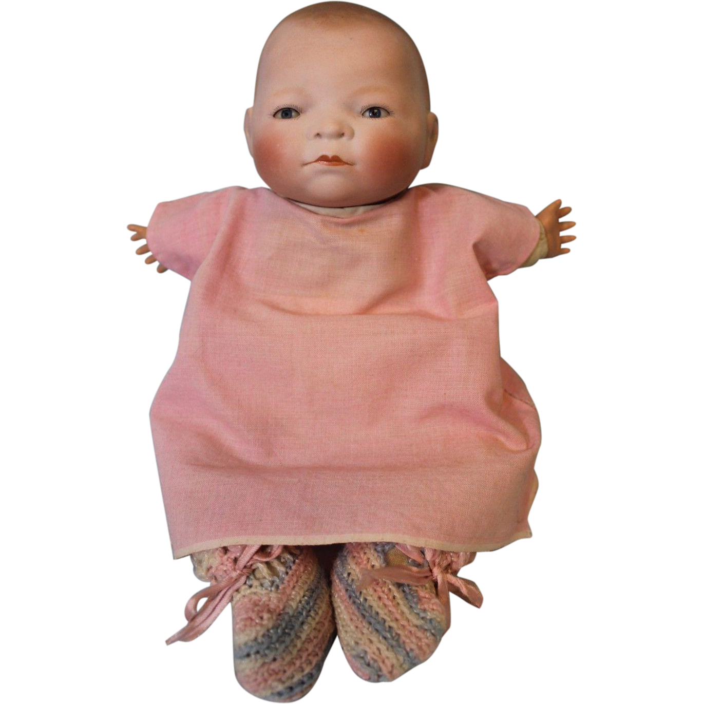 11 Inch Antique Bye Lo Baby Doll By Grace S Putnam German Bisque Baby Dolls Old Dolls Antique Dolls
