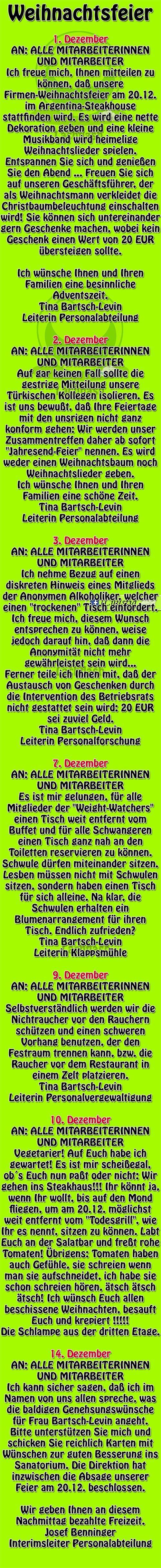 Weihnachtsgedichte Für Weihnachtsfeier.Weihnachtsfeier Meine Welt Sprüche Humor Weihnachtsgedicht