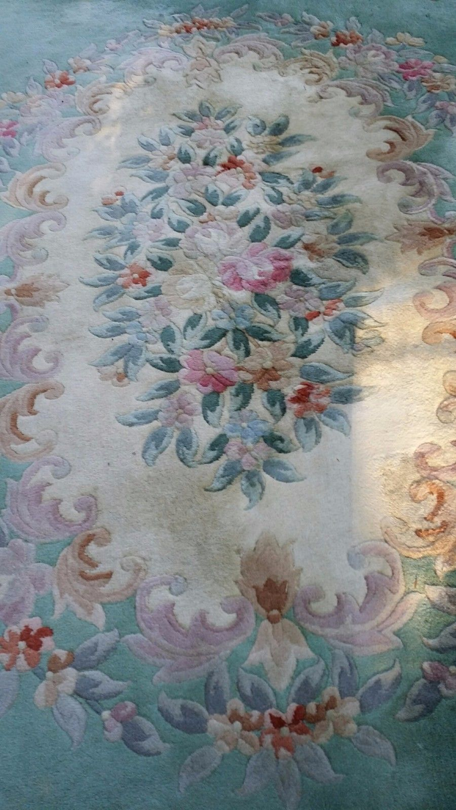 Chinese Aubusson Hand Knotted Oriental Rug 8 11x11 9 Oriental Rug Rugs On Carpet Antique Rugs