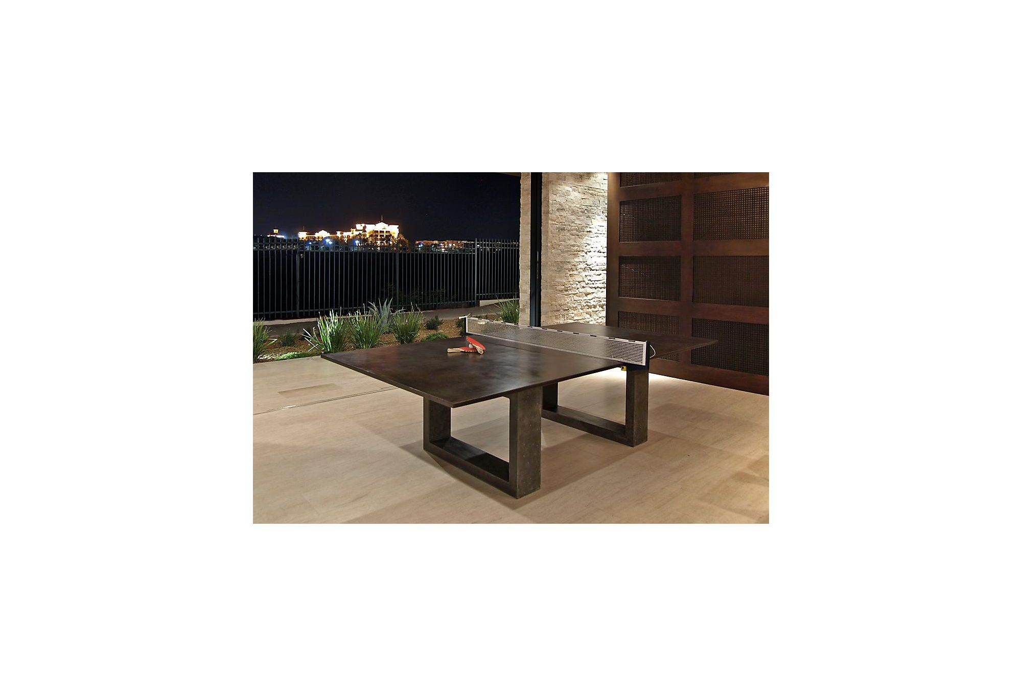 one kings lane james dewulf ping pong dining table dark gray