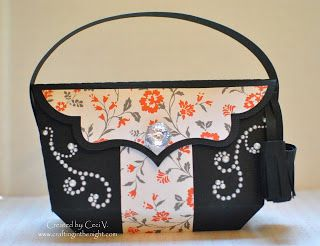 07c49a830305 ... LUXURY HANDBAGS SVG KIT. Isn t this bag gorgeous all in black with the  panels in color
