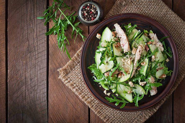 Chicken and Goat Cheese Zucchini Salad F45 challenge Pinterest - schnelle k che warm