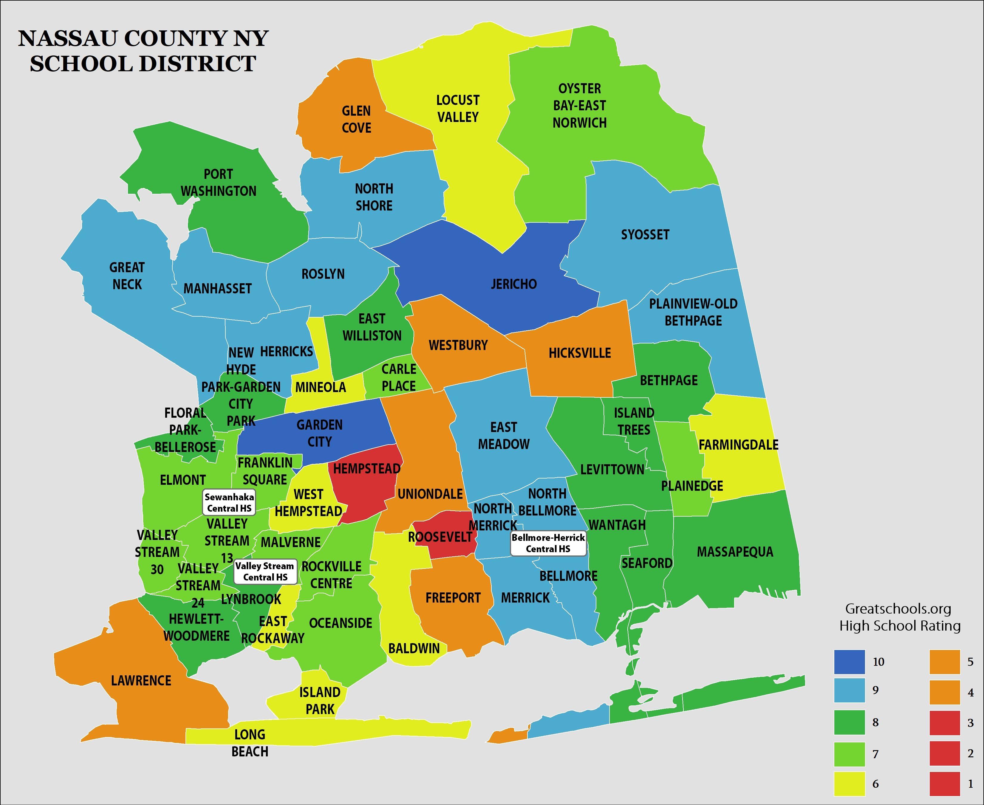 Nassau County Map Long Island | Living Room Design 2020