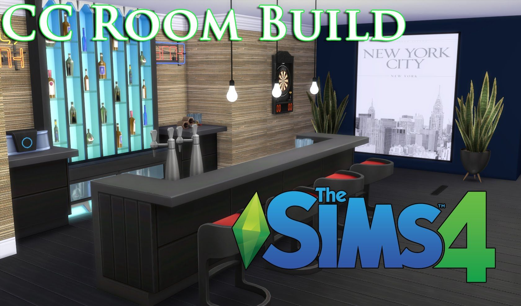 Mancave Bouwen The Sims 4 Cc House Build Episode 8 Man Cave Sims4cc Sims4
