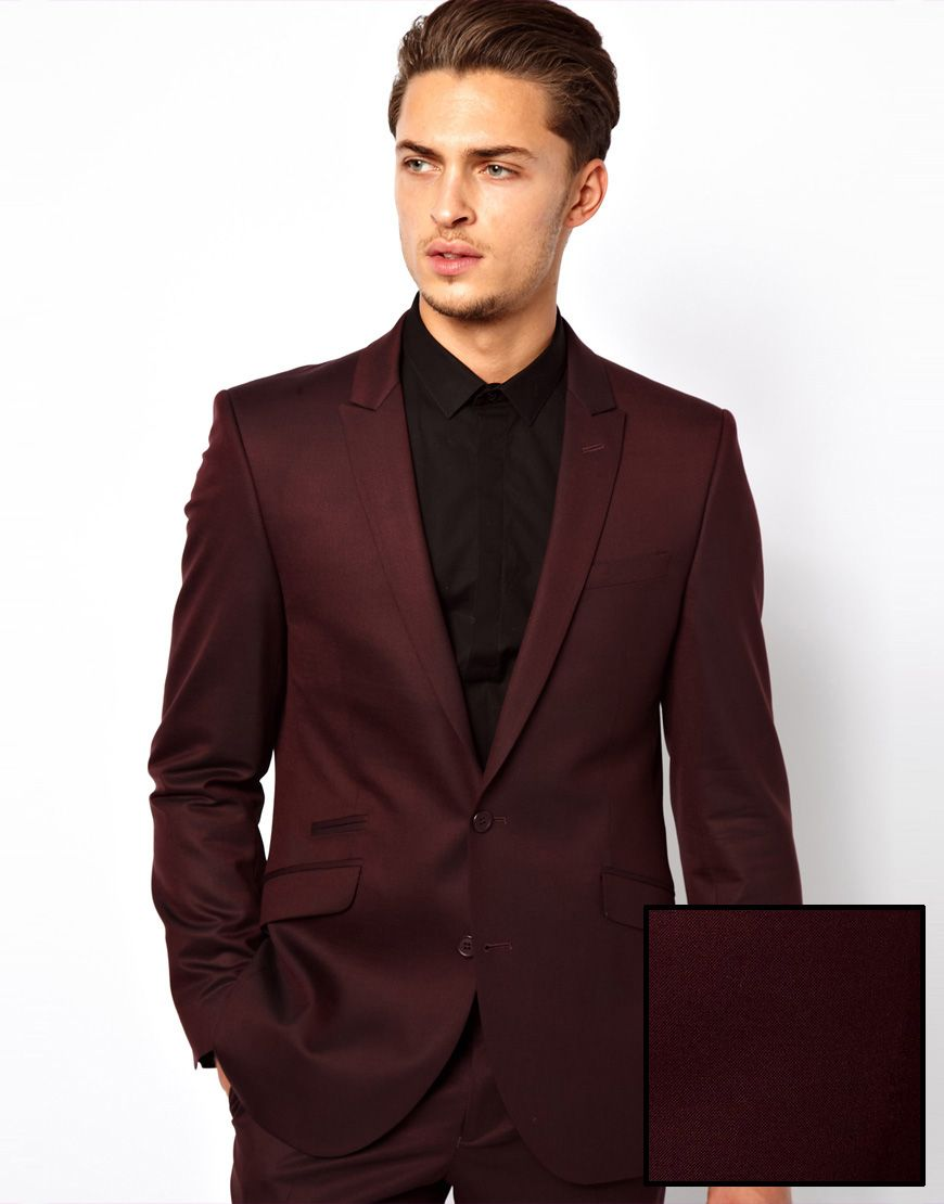 Men's Red Suit Jacket in Slim Fit | Jackets, Clothing and Fit