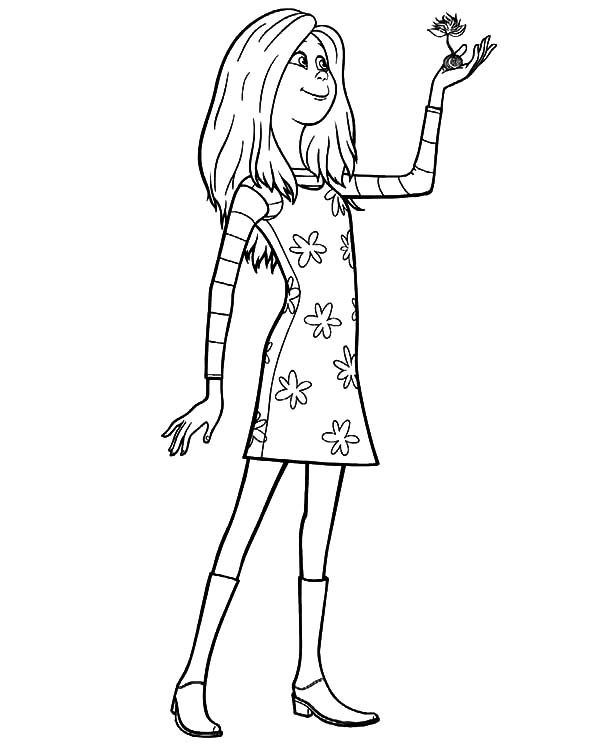 The Lorax Audrey Hold Truffula Tree Seed Coloring Pages