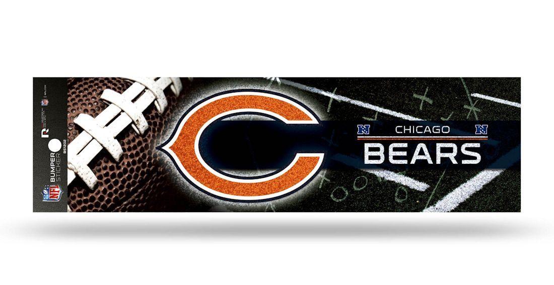 Chicago Bears Glitter Decal Bumper Sticker