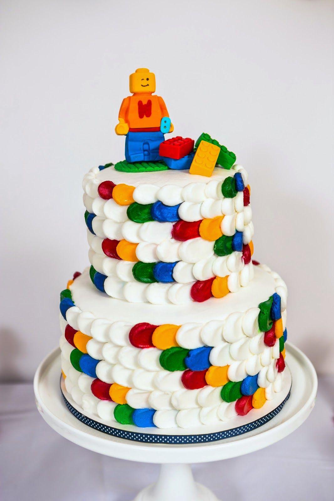 Handmade Legoman and 10 bricks Edible Personalised Cake Topper