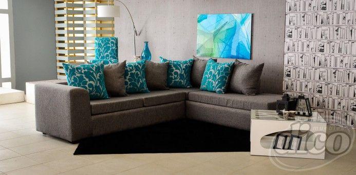 Chelsy gris sala modular derecha home sweet home for Sala gris con azul