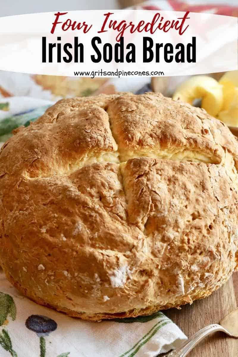 Traditional Irish Soda Bread Recipe Gritsandpinecones Com Recipe Soda Bread Homemade Bread Recipes Easy Irish Soda Bread