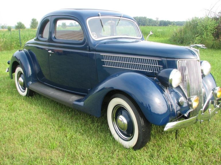 1936 Ford V 8 2 Door Coupe Fitted With Rear Dicky Seat Ford
