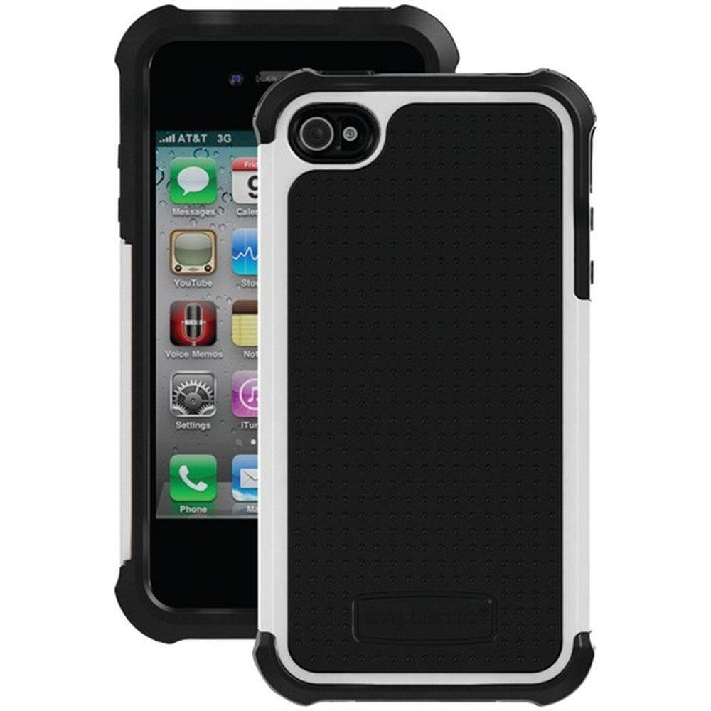 Black & White Ballistic iPhone 4/4S Case Tough Jacket ...
