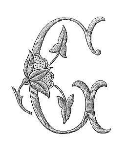 encore une belle serie d initiales broderie d antan embroidery C R Le bon avant que vous me le demandiez lo oui c est tout