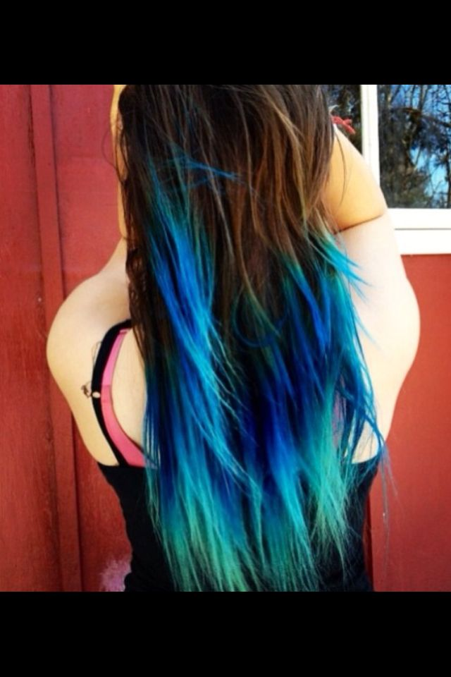 Gorgeous Brown To Blue Blue Ombre Hair Turquoise Hair Ombre