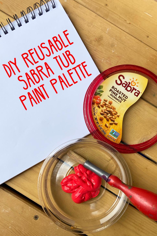 Reusable Sabra tub paint palette