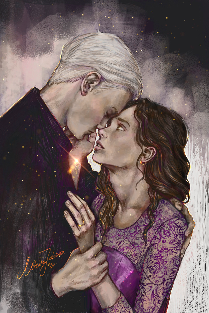 The Binding Curly Kay Harry Potter J K Rowling Archive Of Our Own Dramione Draco Malfoy Fanart Dramione Fan Art