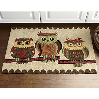 Owl Mat From Through The Country Door