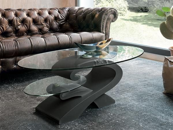 target point modern enigma coffee table with glass top - see more