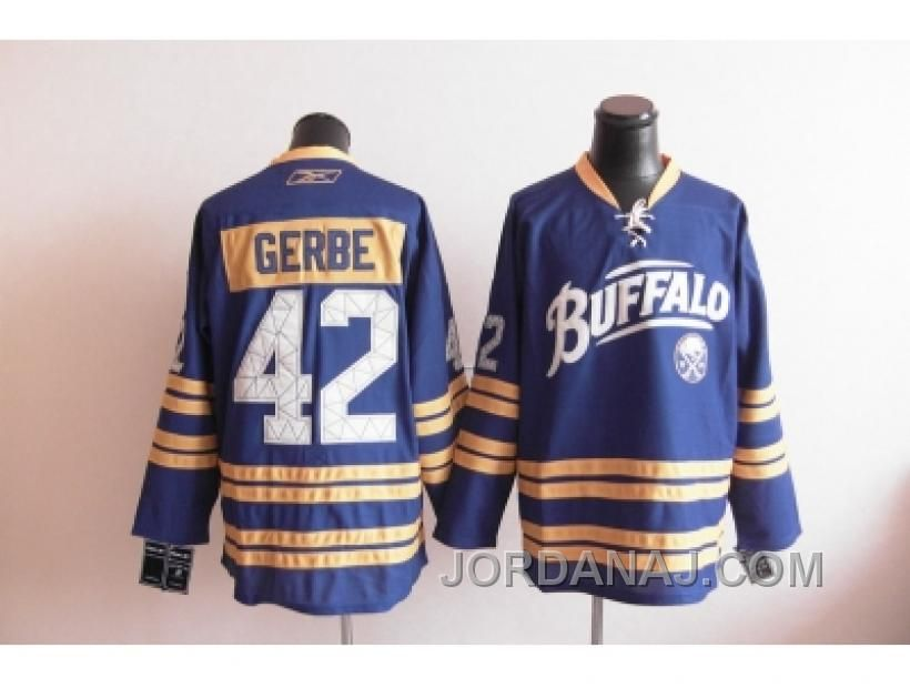 2010 New Third Buffalo Sabres Nathan Gerbe Light Blue Stitched NHL Jersey 84843457e