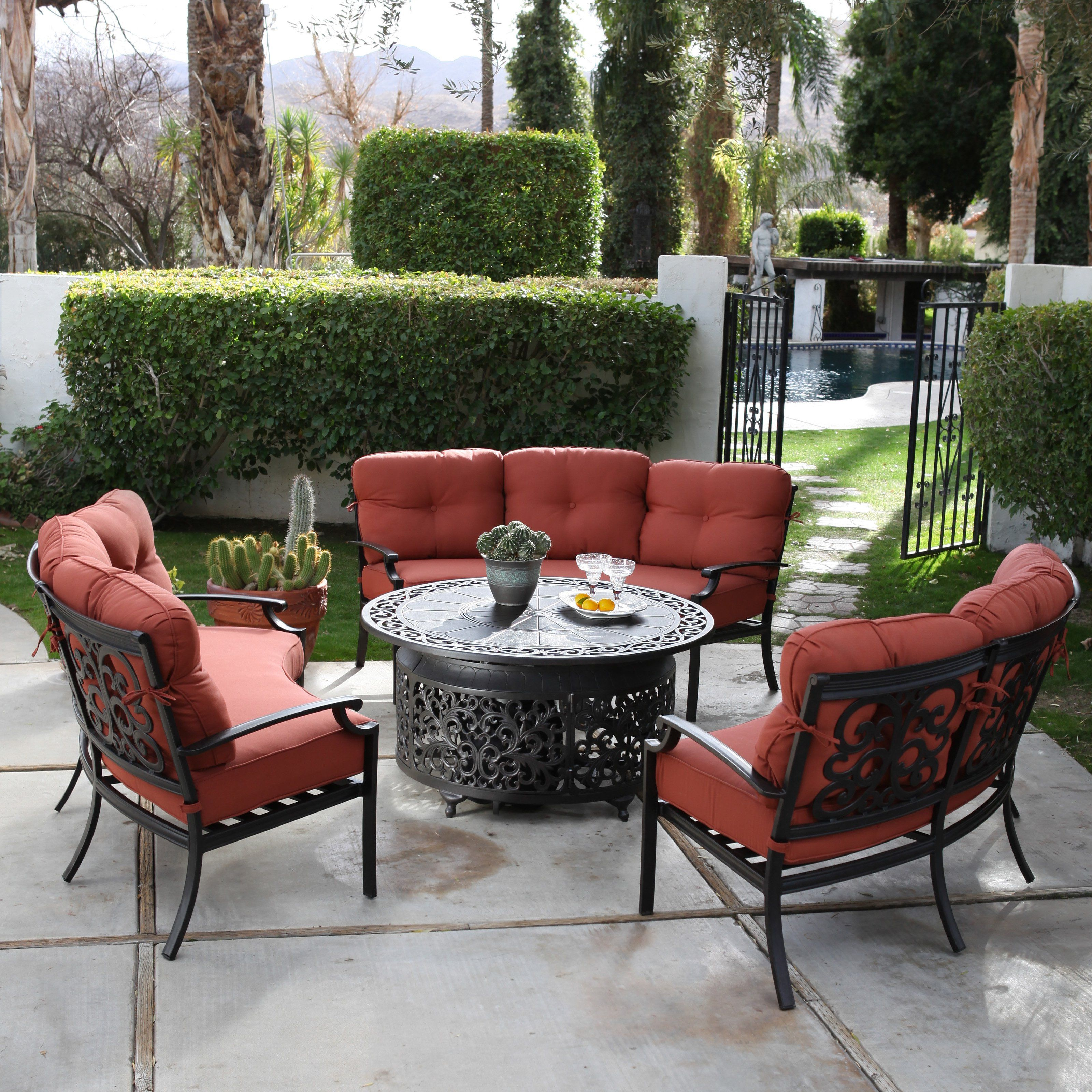 belham living parkville metal sofa sectional patio dining set reversible chaise outdoor with fire pit baci room