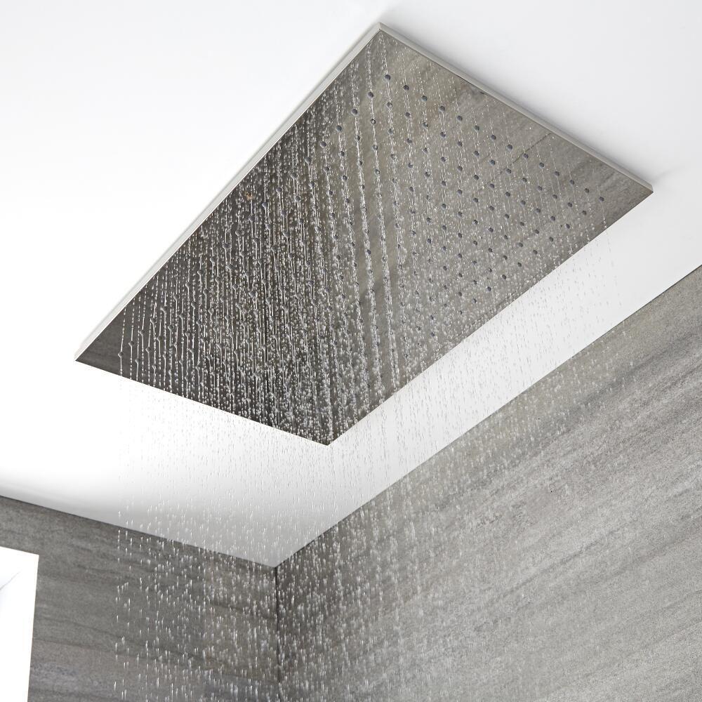 Inbouw Douchekop Plafond Messing Chroom 80 X 50cm Trenton