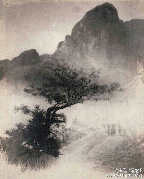 "郎静山 《独立寒秋》 Lang Ching-shan - ""independent cold autumn"""