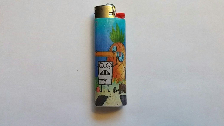 Custom Spongebob Squarepants Lighter - Doodlebob | SpongeBob Swag ...