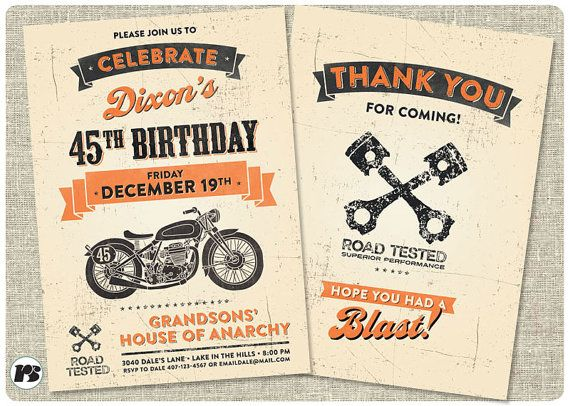 Motorcycle biker birthday invitation vintage motorcycle birthday motorcycle biker birthday invitation vintage motorcycle birthday motorcycle invite harley davidson birthday biker birthday printable filmwisefo Image collections