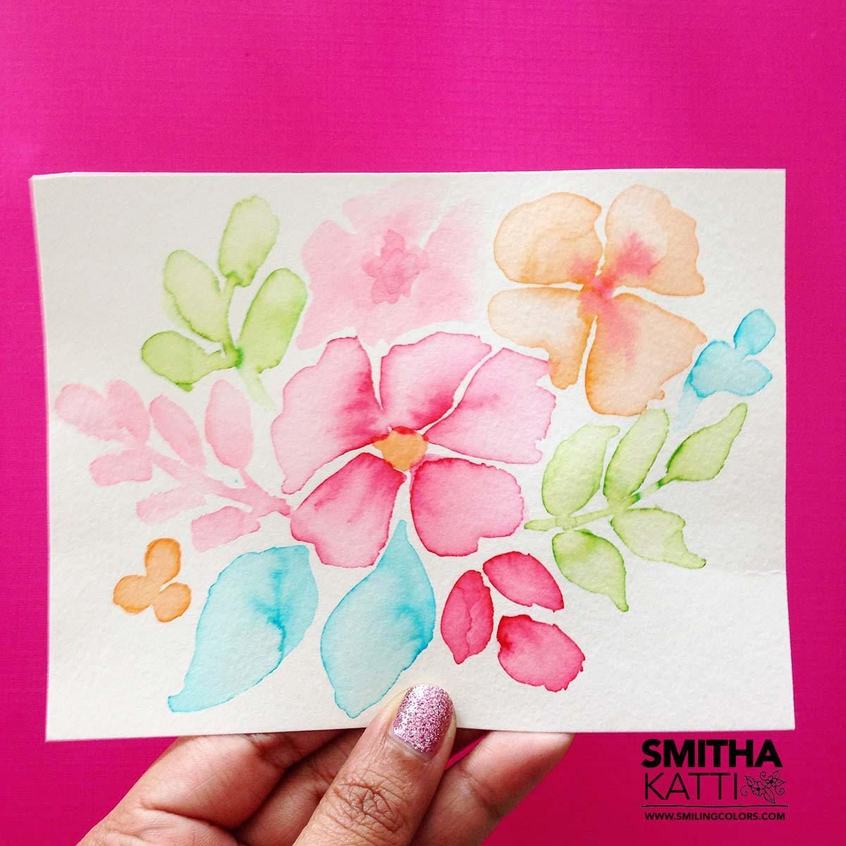 Watercolor Flowers Easy Video Tutorial Watercolor Pencil Art