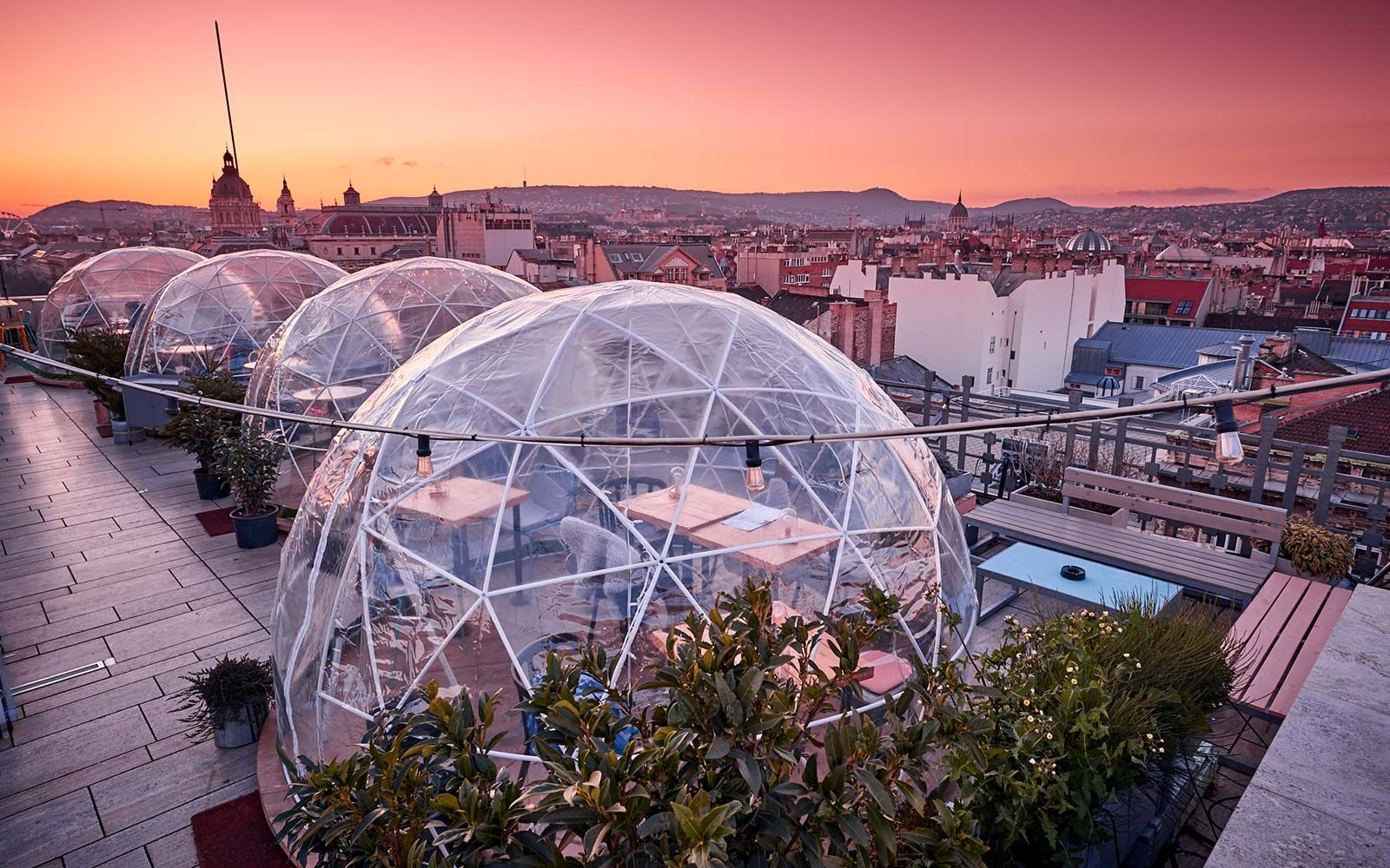 Enjoy A Drink In A Rooftop Igloo At This Bar In Budapest Budapest Travel Budapest Winter Budapest