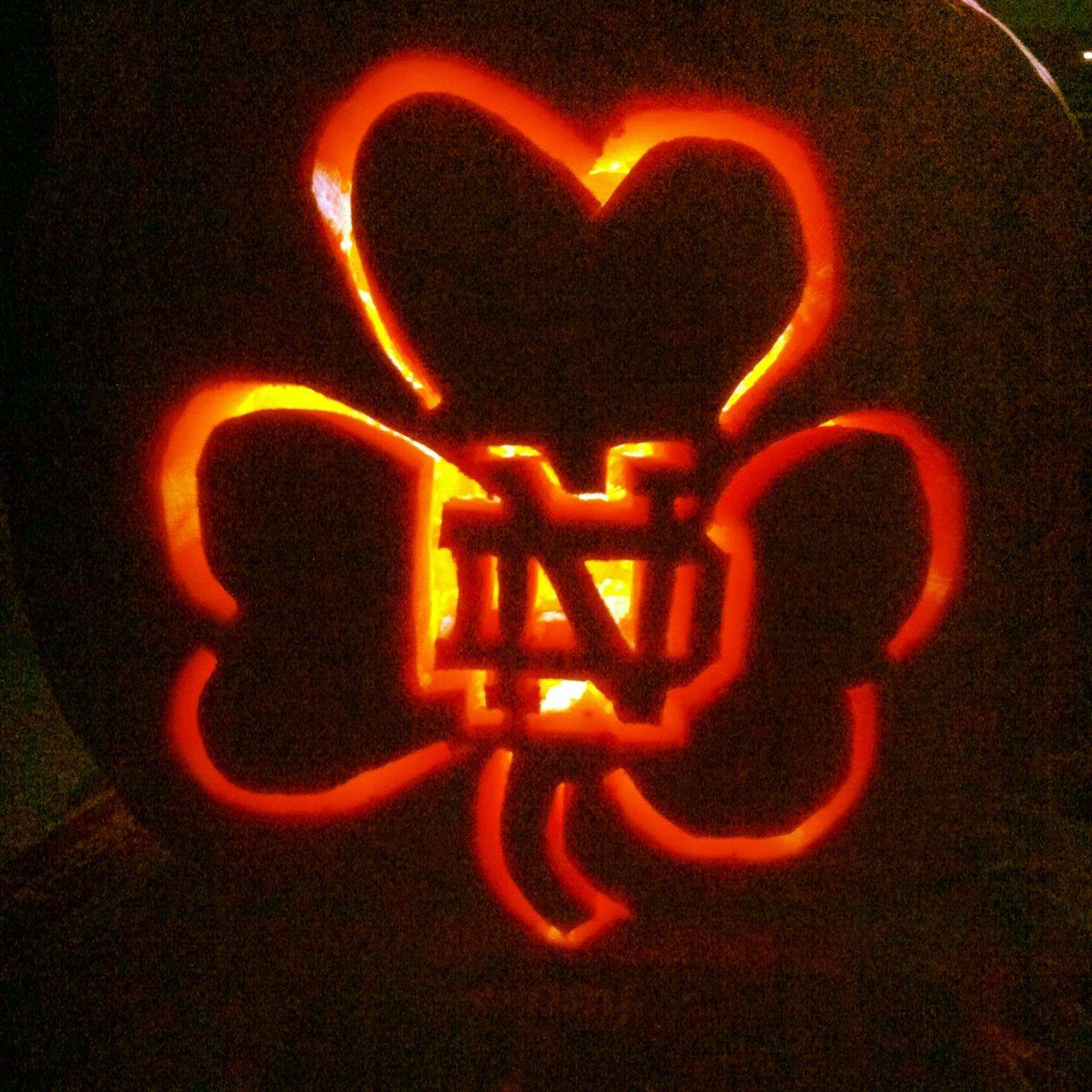 Notre Dame Pumpkin Free Handed Fall Halloween In 2018